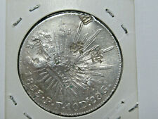 1853  MEXICO  G-PF  SILVER 8 Reales  CAP & RAYS  (VF)  with HEAVY CHOP MARKS!