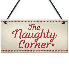 Naughty Corner Novelty Hanging Sign Home Wall Door Plaque Funny Children Gift