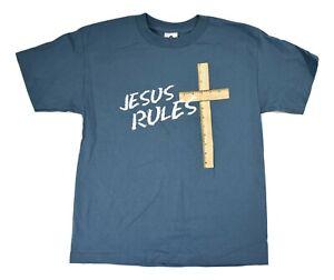 Youth Jesus Rules Christian Christ Lord God Shirt New M(8), L(10-12), XL(14-16)