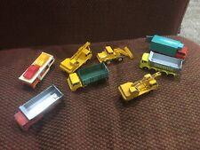 Vintage Matchbox Lesney - Trucks Cranes - Lot of EIGHT