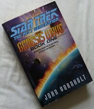 STAR TREK NEXT GENERATION, GENESIS WAVE BOOK 1 by JOHN VORNHOLT, HARDBACK, 2000