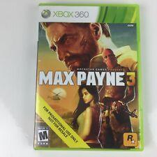 Max Payne 3 (Microsoft Xbox 360, 2012) Complete