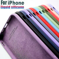 Silicone Case For iPhone 12 Pro Max 11 XS X XR 8 7 SE 2 Soft Liquid Rubber Cover