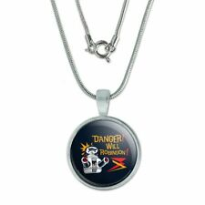 """Danger Will Robinson B9 Robot Lost In Space 0.75"""" Pendant w/ Silver Plated Chain"""