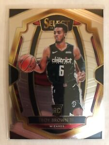Troy Brown Jr 2018-19 Panini Select  Premier Level Rookie Card RC Wizards