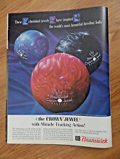 1963 Brunswick Sports Ad  The Crown Jewel with Miracle Tracking Bowling Balls