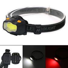 Mini Waterproof COB LED Headlamp 3 Modes Camping Flashlight Frontal Head Torch