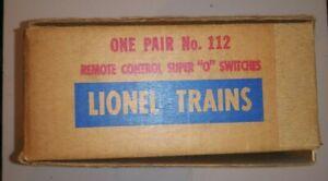 LIONEL  NO. 112 VINTAGE LEFT & RIGHT-HAND SUPER O  REMOTE CONTROL SWITCHES W/CON