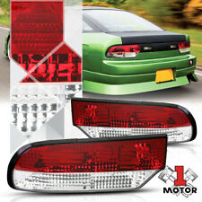 Crystal Red/Clear Lens Tail Light Rear Brake Lamp for 89-93 240sx S13 Fastback