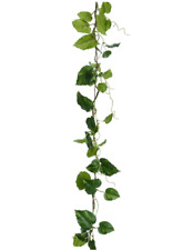 142cm Long Green Hop Leaf Garland Artificial Silk Flowers