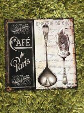 Tin Signs Retro Paris Cafe Wedding Bar Fashion Kitchen Decor