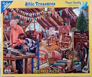 White Mountain ATTIC TREASURES Grandpa #1123 Jigsaw Puzzle 1000 24x30 2015 Crisp