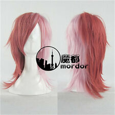 Usavich Red Rabbit cosplay wig Party Red ombre wig+Free Wig Cap