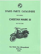 Parts Manual Fits Puch Cheetah Mk3 Scooter Book Catalog  FREE SHIP USA