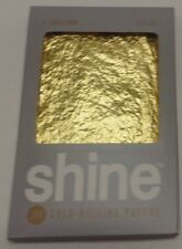 SHINE 24K GOLD CIGARETTE ROLLING PAPERS 1 1/4 SIZE 2 LEAVES PER PACK