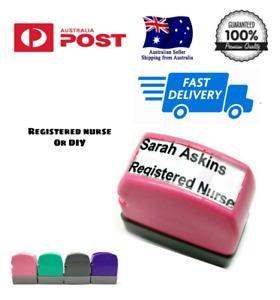 Custom Name Stamp signature rubber Flash stamp self inking Registered Nurse EEN