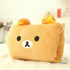 Sale Rilakkuma San-X Bear 2in1 Plush Winter Warm Hand &Back Cushions Nap Pillow