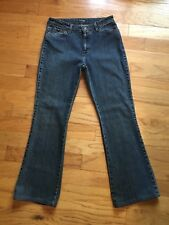 NORTH FACE WOMENS BOOT CUT BLUE JEANS W A5 SIZE 8-33 29W x 29L PREOWNED STRETCHY