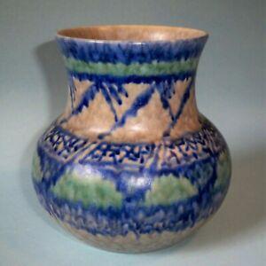 English Arts & Crafts / Deco Pilkington Royal Lancastrian Gwladys Rodgers Vase