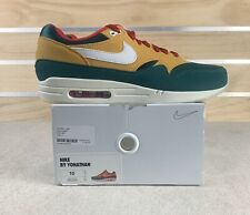 Nike Air Max 1 iD Size 10 Green Brown Red White New Shoes Retro CN9671-991