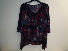 Elementz Size 2X Ranie Knit Shirt Top Cowl Neck Blouse New Womens Clothing