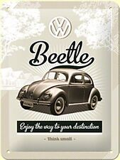 VW Beetle Enjoy the Way To Your Destination steel sign   (na 2015)