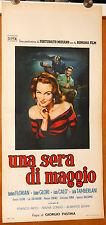 Barbara Florian Giorgio Pàstina UNA SERA DI MAGGIO locandina originale 1955