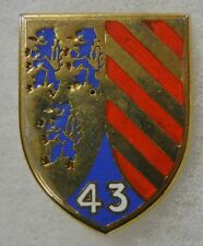 ORIGINAL Vintage FRENCH ARMY 43rd DISTINCTIVE UNIT INSIGNIA BADGE