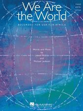 We Are the World Sheet Music Piano Vocal Lionel Richie Michael Jackson 000353492