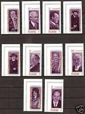 FUJEIRA #M: 495B-504B MNH HISTORYS FAMOUS GERMANS