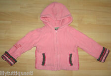 IKKS - Gilet à capuche en coton rose - Taille 2 ans - TBE !!!