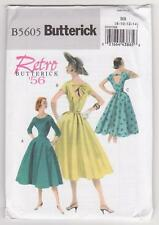 Butterick Sewing Pattern B5605 Miss Retro '56 Dress and Belt Sz 8-14
