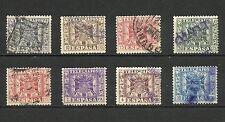 España, 1949, Telégrafos, Escudo de España, series completa usada