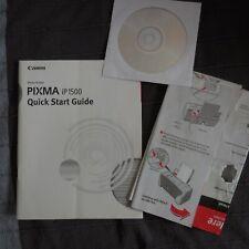 Canon Pixma iP 1500 Quick Start Guide Color Photo Printer Paperback OEM