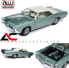 AUTOWORLD AMM1192 1:18 1966 PONTIAC GTO PALMETTO GREEN MET. HEMMINGS MOTOR NEWS