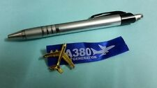 Airbus GOLD coloured A 380 tie pin ribbon Aviation Aircraft Airline Aeroplane