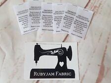 25 pack white Poly Elastane Lycra SWIM KNIT satin care labels sew in FREEPOSTAU