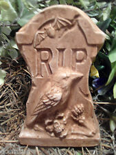 """Free standing mini Tombstone raven poly plastic mold 6""""H x 4""""W"""