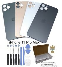 Apple iPhone 11 Pro Max Back Battery Cover Glass Door Replacement Housing+Tools