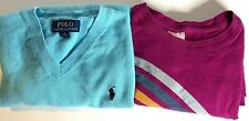 Lot Girls  Shirts Sweater Tops  Size M 8 10 Hanna Andersson  Ralph Lauren Polo A