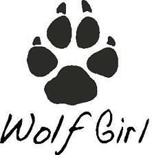 WOLF GIRL,ANIMALS,GIRLS,SAYINGS, CAR DECAL STICKER