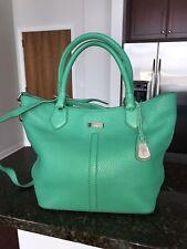 Cole Haan Village Leather Serena Tote Bag Shopper Green