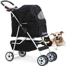 4 Wheels Pet Stroller Cat Dog Cage Stroller Travel Folding Carrier Portable Us