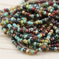 8/0 FOREST LAKE PICASSO MEGA MIX MIYUKI SEED BEADS - 20grams!!!