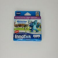 Monsters University Innotab Educational Game Cartridge Vtech Disney Pixar New