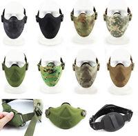 Airsoft Softair Paintball Maske Schutzmaske Gotcha Half Face Mask Jagd War Spiel