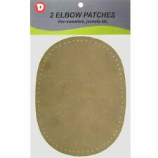 2 Natural Suede Leather Sew-On Elbow Repair Patches 4.5 x 5.5 in - Camel