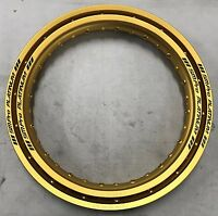 YAMAHA TY250 / 350 S / R / PINKY MONO SM PRO PLATINUM FRONT & REAR RIM SET GOLD