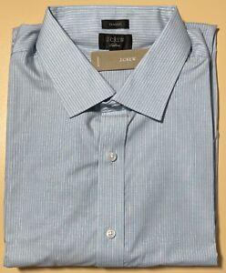 15 x 33 J CREW Ludlow Slim Fit Stretch Poplin Dress Shirt In Nordic Sea  J4895