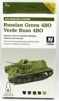 Vallejo 78.403 Russian Green 4BO (AFV Painting System) Acrylic Paint Set Tanks